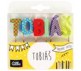 Albi Cake candles name - Tobias, 2.5 cm