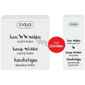 Ziaja Goat's milk night cream for dry skin with wrinkles 50 ml + eye cream 15 ml, duopack