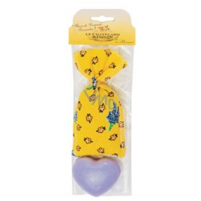 Le Chatelard Lavender cloth bag filled with fragrant mixture 7 g + heart-shaped toilet soap 25 g, cosmetic set