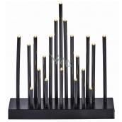 Emos Lighting candleholder black 25 x 27.5 cm, 20 LED, warm white
