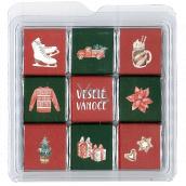Nekupto Chocolate puzzle Christmas Skates 11 x 11.5 x 0.7 cm, 9 x 5 g