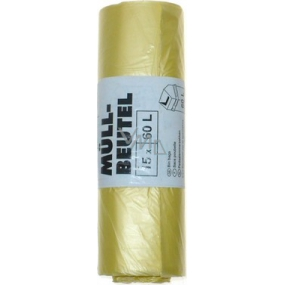 Swirl waste bags yellow 60 liters, 60 x 72 cm, 15 pieces