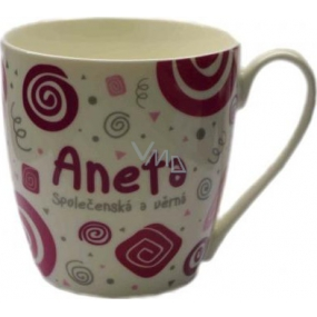 Nekupto Twister mug named Aneta pink 0.4 liter