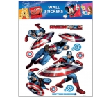 Room Decor Wall Stickers Marvel Captain America 30 x 30 cm