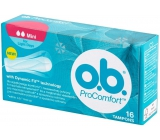 ob Pro Comfort Mini with Dynamic Fit tampons 16 pieces