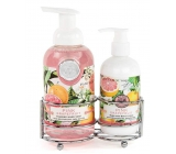 Michel Design Works Pink grapefruit foaming liquid hand soap 530 ml + hand and body lotion 236 ml, cosmetic set