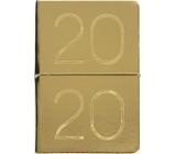 Albi Diary 2020 weekly metallic Gold 19 x 13 x 0.7 cm