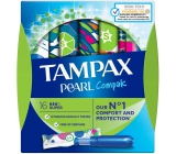 Tampax Compak Pearl Super women's tampons with 16-piece applicator