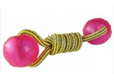 Sum-Plast Plast Cotton barbell with salary balls for dogs 5 cm