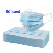 Veil 3-layer protective medical non-woven disposable, low breathing resistance 50 pieces
