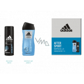 Adidas After Sport deodorant spray for men 150 ml + 3 in 1 shower gel for body, hair and face 250 ml, cosmetic set