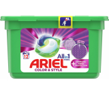 Ariel All in 1 Pods Color & Style Complete Fiberer Protection gel capsules for washing colored laundry 12 pieces 302.4 g