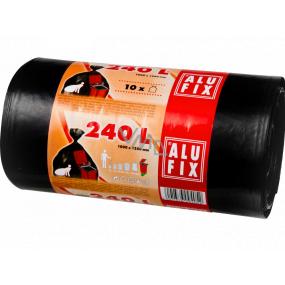Alufix Garbage bags black, 35 µ, 240 liters, 100 x 125 cm, 10 pieces