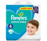 Pampers Active Baby 6 Extra Large 13-16 kg disposable diapers 56 pieces