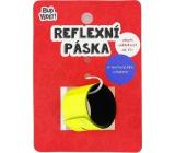 Albi Buď vidět! Reflexní pásek Tony Robbins Žlutý, zvýší viditelnost až 10x