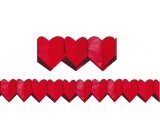 Garland of Hearts red large 400 x 19 cm