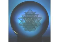 Sri Yantra ve skleněné kouli přináší materiální i spirituální bohatství 6 cm