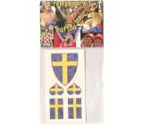 Arch Tattoo Decals on Face and Body Sweden Flag 3 motifs
