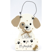 Nekupto Pets Wooden sign Love is four-legged - dog 12 x 8 cm
