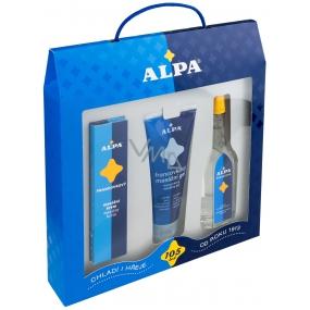 Alpa Francovka alcoholic herbal solution 60 ml + massage gel 100 ml + massage cream 40 g, cosmetic set