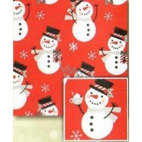Nekupto Gift wrapping paper 70 x 500 cm Christmas Red, snowmen