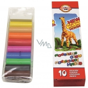 Koh-i-Noor Giraffe school modeling clay 10 colors of 20 g