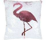 Albi Pillow with sequins Flamingo 37 x 37 x 10 cm