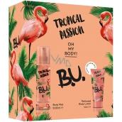 BU Tropical Passion body spray for women 200 ml + body lotion 50 ml, cosmetic set