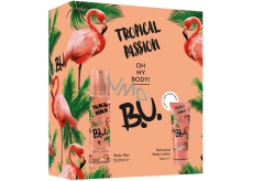 BU Tropical Passion body spray for women 200 ml + body lotion 50 ml, cosmetic set