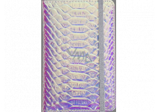 Albi Block holographic lined with rubber band Blue-silver 14 x 9 x 1.5 cm