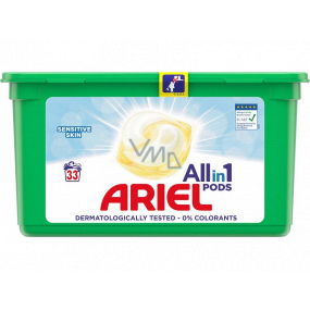 Ariel All-in-1 Pods Sensitive gel capsules for washing clothes 33 pieces 798.6 g