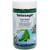 Tetesept Nachlazení Eukalyptus + Rozmarýn, 100% Mořská sůl pro prokrvení celého těla 900 g Cold Relief