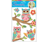 Hard paper wall stickers three-dimensional owl 41 x 29 cm