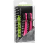 MegaSmile Black Whitening II Sonic Replacement Head for Sonic Toothbrush Latest Generation Pink 2 Pieces