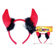Headband horns devil stuff with feathers