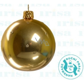 Irisa Gold metallic glass flasks, polka dot, set of 7 cm 12 pieces