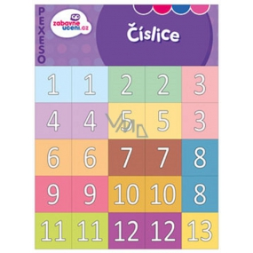 Ditipo Digits fun learning memory game getting to know the numbers from 1-20 and tens 10-90, 297 x 222 mm