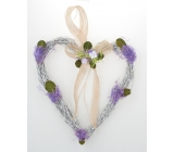 Wicker heart with lavender for hanging 21 cm