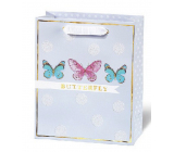 BSB Luxury gift paper bag 23 x 19 x 9 cm Dots & Mutterfly LDT 408 - A5