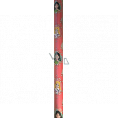 Ditipo Gift wrapping paper 70 x 200 cm Christmas Disney Princesses in circles pink