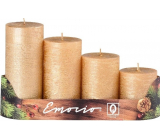 Emocio Candle grade rustic gold cylinder 50 mm 4 pieces