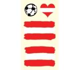 Arch Tetovací obtisky na obličej i tělo Rakousko vlajka 1 motiv