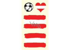 Arch Tattoo Decals for Face and Body Austria flag 1 motif