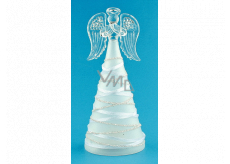 Angel glass illuminated LED on standing 16 cm