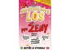 Nekupto Birthday Scratch Card Lottery for Women 21.5 x 13.5 cm G 31 3343