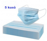 Disposable drape, face mask blue 5 pieces