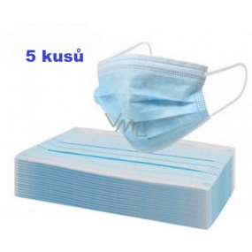 Veil 3-layer protective medical non-woven disposable, low breathing resistance 5 pieces