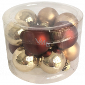 Flask glass brown set 2.5 cm, 12 pieces