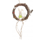 Wicker wreath for hanging bunny 18 cm