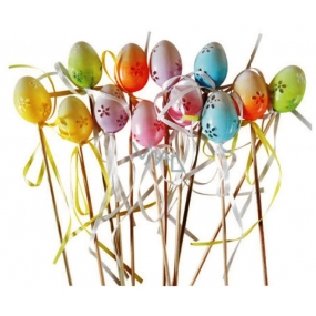 Eggs 4 cm + skewers more colors 1 piece